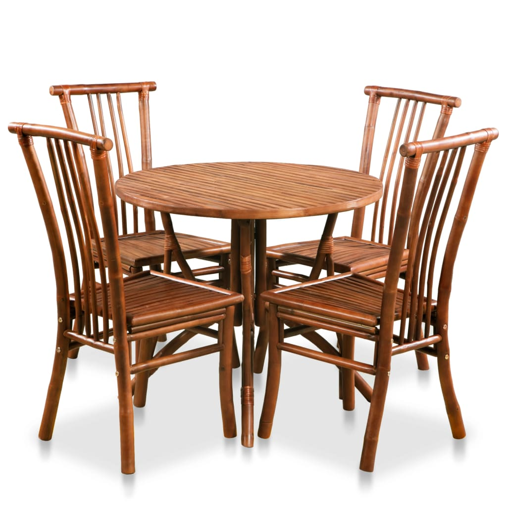 vidaXL Set de mobilier de bucătărie, 5 piese, bambus poza 2021 vidaXL