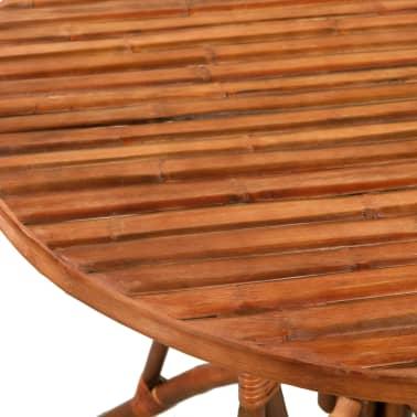 vidaXL Jedilna garnitura 5 delna iz bambusa[5/10]