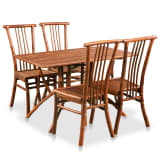 vidaXL Dining Set 5 Pieces Bamboo