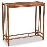 vidaXL Table de bar Bambou 100 x 45 x 100 cm Marron