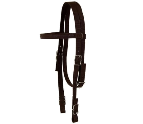 "vidaXL Western Saddle, Headstall&Breast Collar Real Leather 15"" Brown[11/16]"