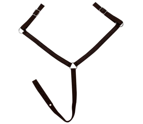 """vidaXL Western Saddle, Headstall&Breast Collar Real Leather 13"""" Brown[12/16]"""