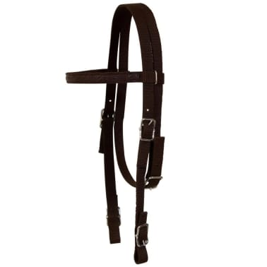 """vidaXL Western Saddle, Headstall&Breast Collar Real Leather 13"""" Brown[11/16]"""
