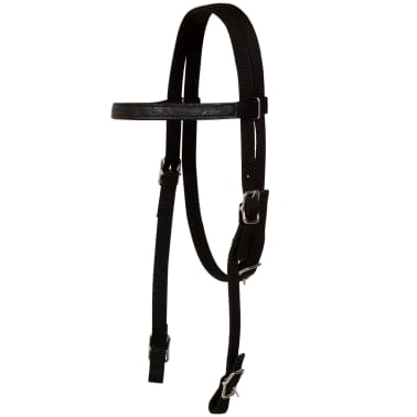 "vidaXL Western Saddle, Headstall&Breast Collar Real Leather 17"" Black[11/17]"