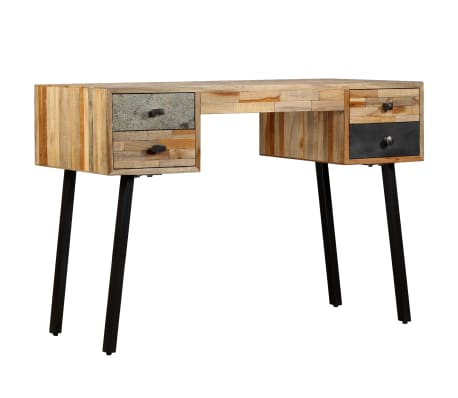 "vidaXL Writing Desk Solid Reclaimed Teak 43.3""x19.6""x29.9"""