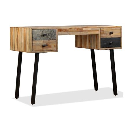 vidaXL Rašomasis stalas, perdirbta mediena, 110x50x76cm[11/14]