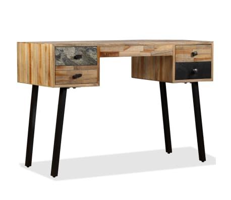 vidaXL Rašomasis stalas, perdirbta mediena, 110x50x76cm[13/14]