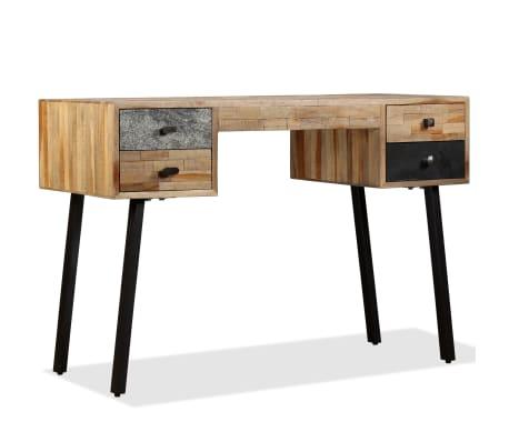 vidaXL Rašomasis stalas, perdirbta mediena, 110x50x76cm[14/14]