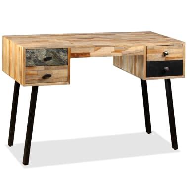 vidaXL Rašomasis stalas, perdirbta mediena, 110x50x76cm[2/14]