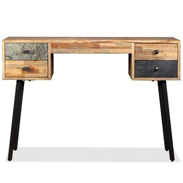 vidaXL Rašomasis stalas, perdirbta mediena, 110x50x76cm[3/14]