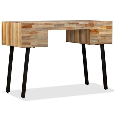vidaXL Rašomasis stalas, perdirbta mediena, 110x50x76cm[4/14]