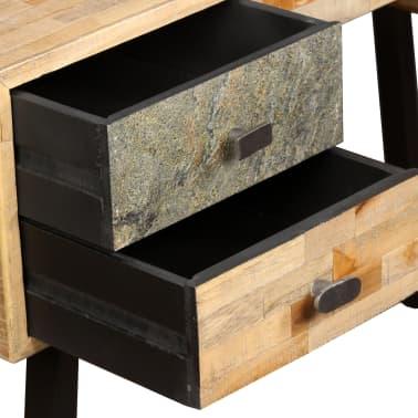 vidaXL Rašomasis stalas, perdirbta mediena, 110x50x76cm[6/14]