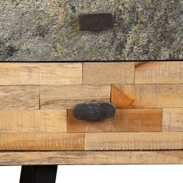 vidaXL Rašomasis stalas, perdirbta mediena, 110x50x76cm[7/14]