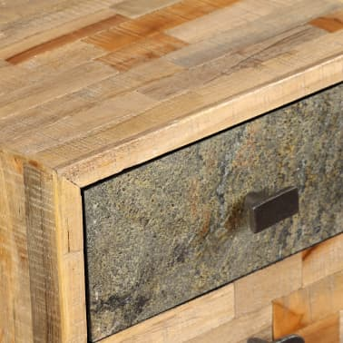 vidaXL Rašomasis stalas, perdirbta mediena, 110x50x76cm[8/14]