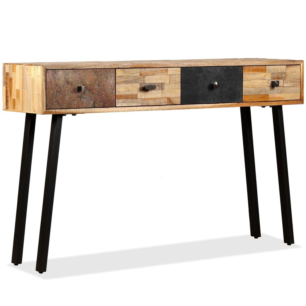 vidaXL Τραπέζι Κονσόλα 120 x 30 x 76 εκ. Μασίφ Ανακυκλωμένο Ξύλο Teak