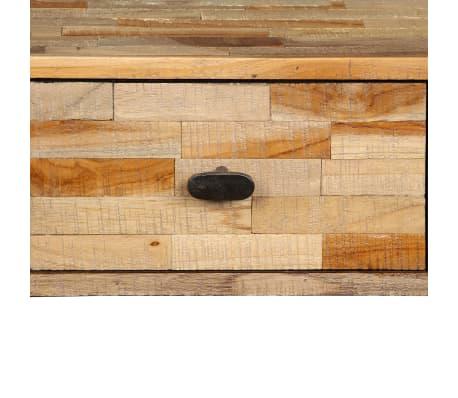 vidaXL Konsolinis staliukas, kietas perdirbtas tikmedis, 120x30x76cm[7/14]