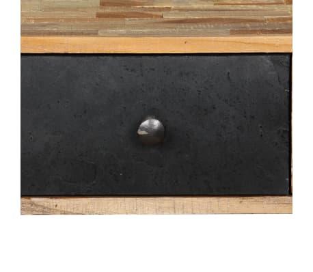 vidaXL Stolik konsola, lite drewno tekowe z odzysku, 120 x 30 x 76 cm[8/14]