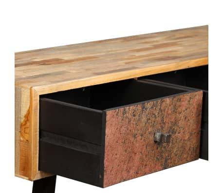 vidaXL Stolik konsola, lite drewno tekowe z odzysku, 120 x 30 x 76 cm[9/14]