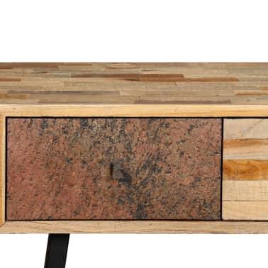 vidaXL Stolik konsola, lite drewno tekowe z odzysku, 120 x 30 x 76 cm[6/14]