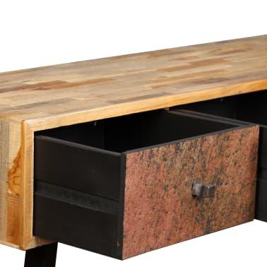 vidaXL Konsolinis staliukas, kietas perdirbtas tikmedis, 120x30x76cm[9/14]