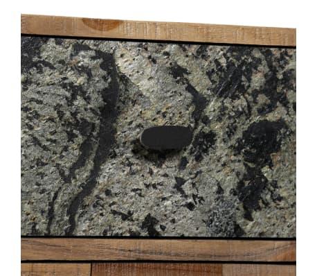vidaXL Komoda su 6 stalčiais, masyvus perdirbtas tikmedis, 70x30x76 cm[7/15]