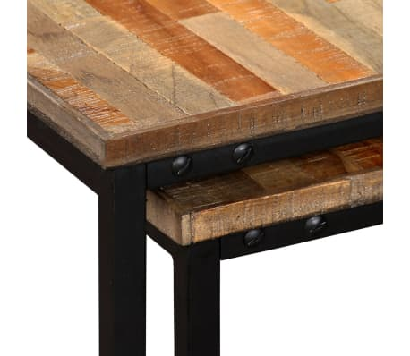 vidaXL Nesting Coffee Table Set 2 Pieces Solid Reclaimed Teak[6/15]