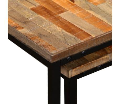 vidaXL Nesting Coffee Table Set 2 Pieces Solid Reclaimed Teak[7/15]