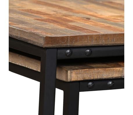 vidaXL Nesting Coffee Table Set 2 Pieces Solid Reclaimed Teak[8/15]