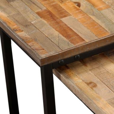 vidaXL Nesting Coffee Table Set 2 Pieces Solid Reclaimed Teak[4/15]