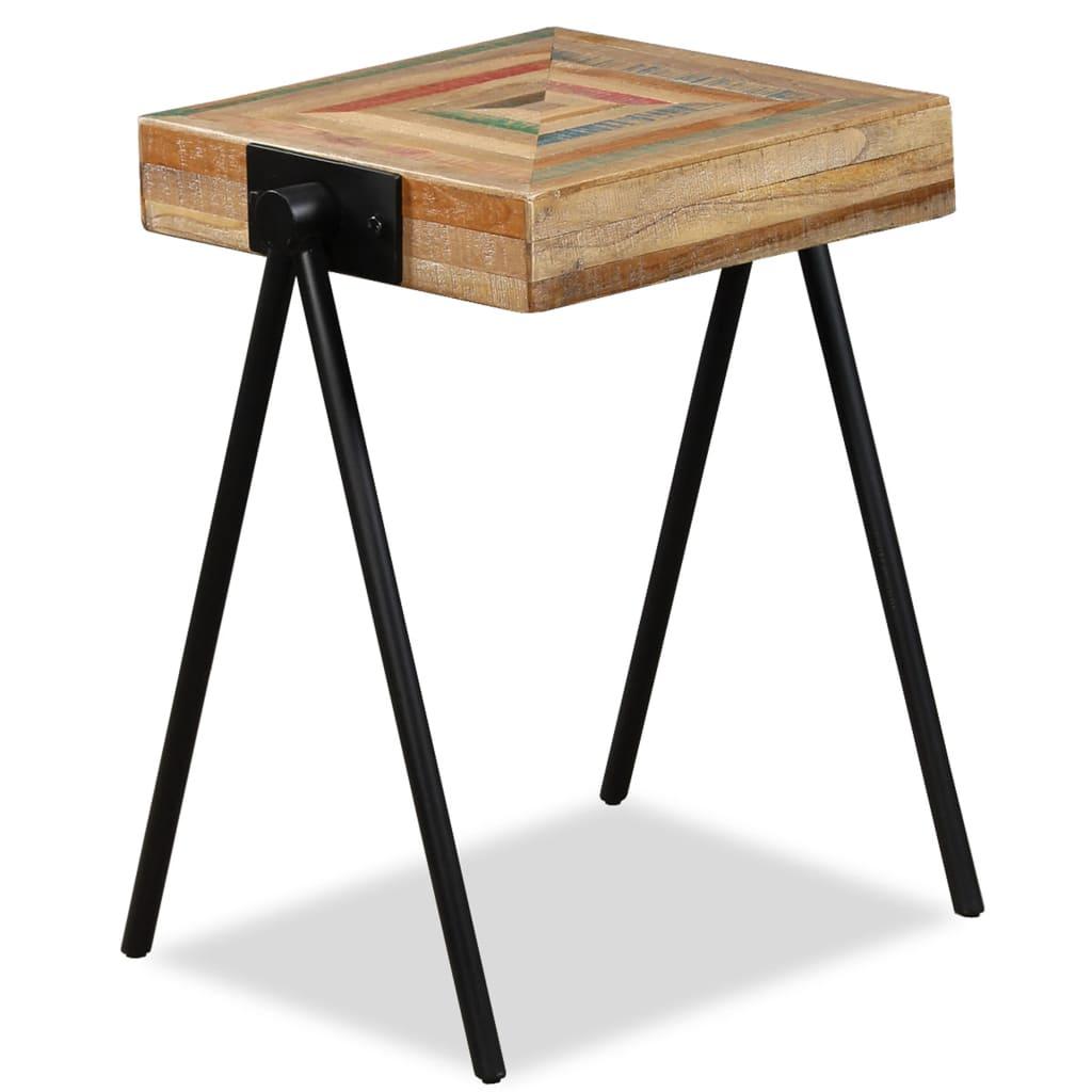 vidaXL Odkládací stolek masivní recyklovaný teak