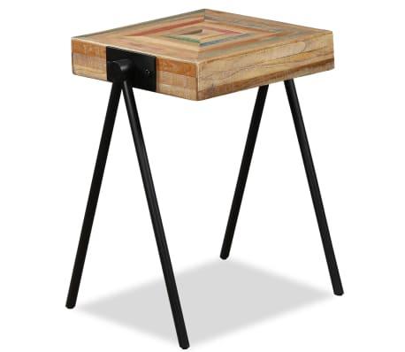 vidaXL Side Table Solid Reclaimed Teak