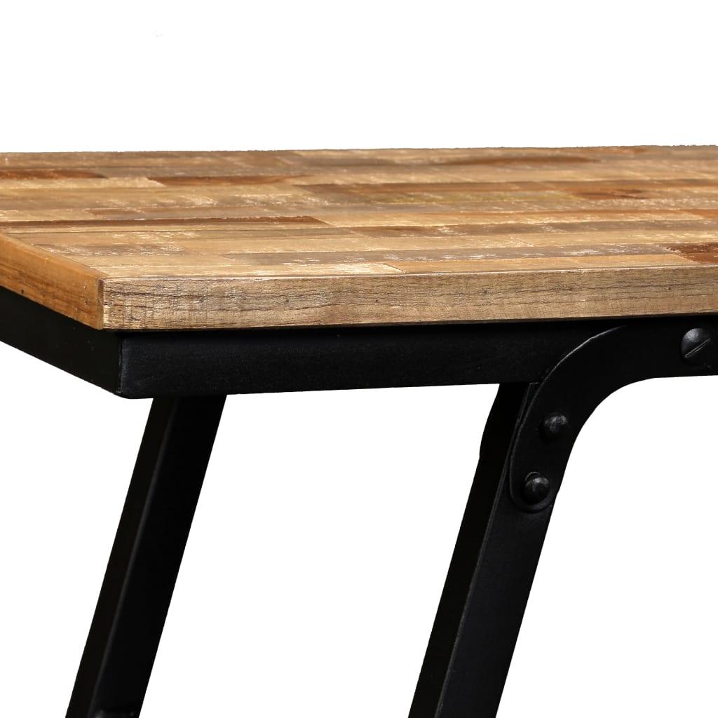 vidaXL Tv-tafel 110x35x30 cm gerecycled teakhout