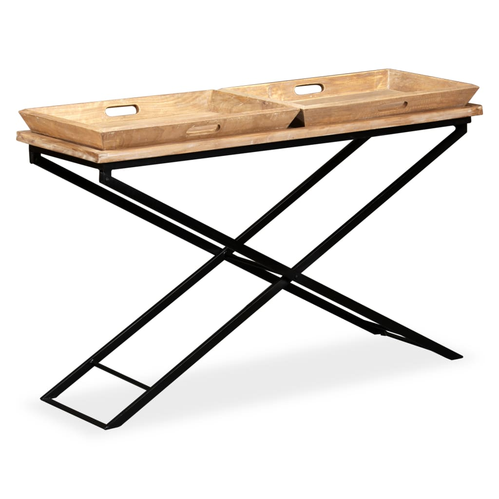vidaXL Konzolový stolek z masivního mangovníkového dřeva 130x40x80 cm