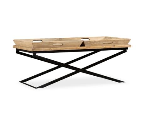vidaXL Kavos staliukas, masyvi mango mediena, 110x55x42 cm[1/16]