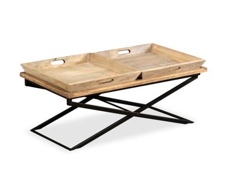 vidaXL Kavos staliukas, masyvi mango mediena, 110x55x42 cm[12/16]