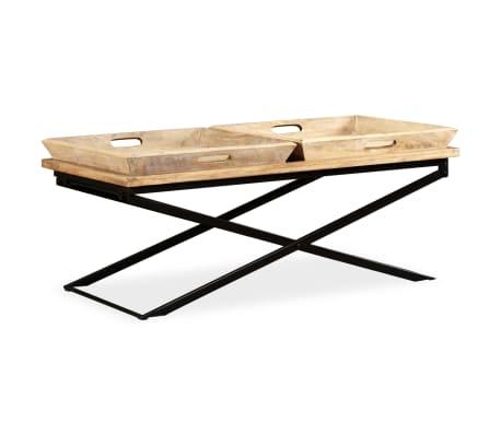 vidaXL Kavos staliukas, masyvi mango mediena, 110x55x42 cm[16/16]