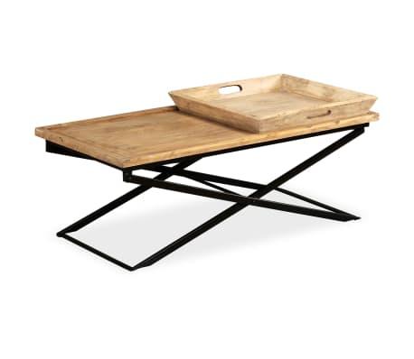 vidaXL Kavos staliukas, masyvi mango mediena, 110x55x42 cm[3/16]