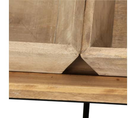 vidaXL Kavos staliukas, masyvi mango mediena, 110x55x42 cm[7/16]