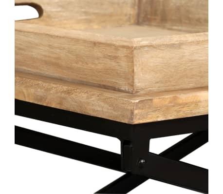 vidaXL Kavos staliukas, masyvi mango mediena, 110x55x42 cm[8/16]