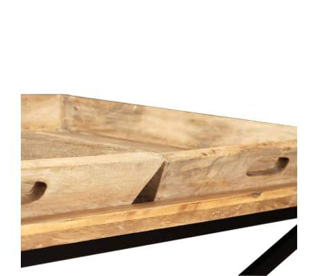 vidaXL Kavos staliukas, masyvi mango mediena, 110x55x42 cm[9/16]