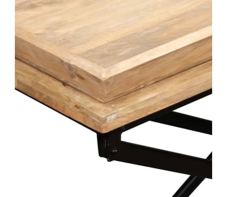 vidaXL Kavos staliukas, masyvi mango mediena, 110x55x42 cm[10/16]