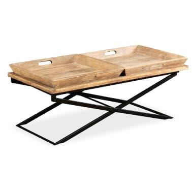 vidaXL Kavos staliukas, masyvi mango mediena, 110x55x42 cm[2/16]