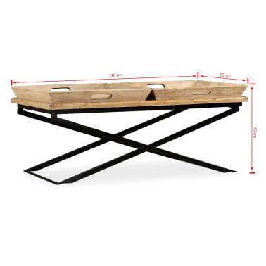 vidaXL Kavos staliukas, masyvi mango mediena, 110x55x42 cm[11/16]