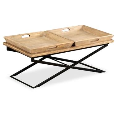 vidaXL Kavos staliukas, masyvi mango mediena, 110x55x42 cm[15/16]