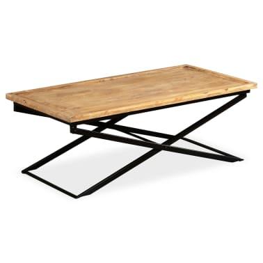 vidaXL Kavos staliukas, masyvi mango mediena, 110x55x42 cm[4/16]