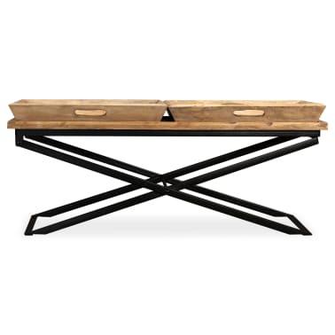 vidaXL Kavos staliukas, masyvi mango mediena, 110x55x42 cm[5/16]