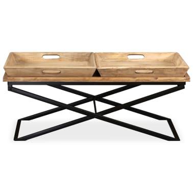 vidaXL Kavos staliukas, masyvi mango mediena, 110x55x42 cm[6/16]