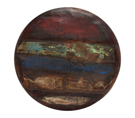vidaXL Coffee Table Solid Reclaimed Wood White Base 60x60x33 cm[4/11]