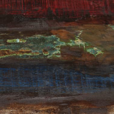 vidaXL Coffee Table Solid Reclaimed Wood White Base 60x60x33 cm[6/11]