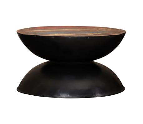 vidaXL Kavos staliukas, perdirbta med. mas., juod. pagr., 60x60x33cm[2/12]